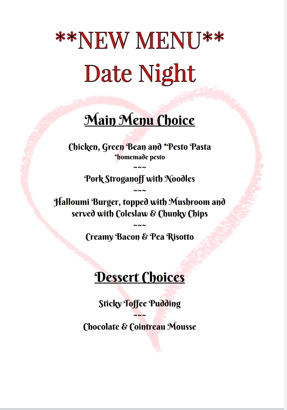 Friday 2nd October   Date Night